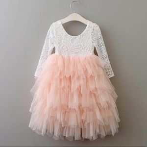 Dresses - 🎉🎉HOST PICK 6/4🎉🎉 Peach/White Lace/Tulle Dress